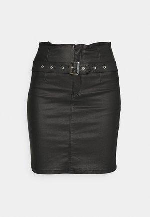 CORSET BELT MINI SKIRT - Miniskjørt - black