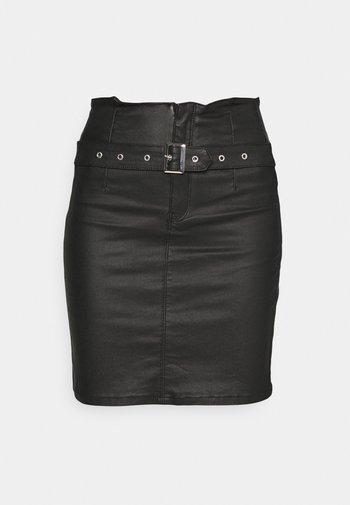 CORSET BELT MINI SKIRT - Minihame - black