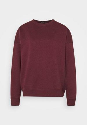BASIC OVERSIZED  - Sweatshirt - burgundy