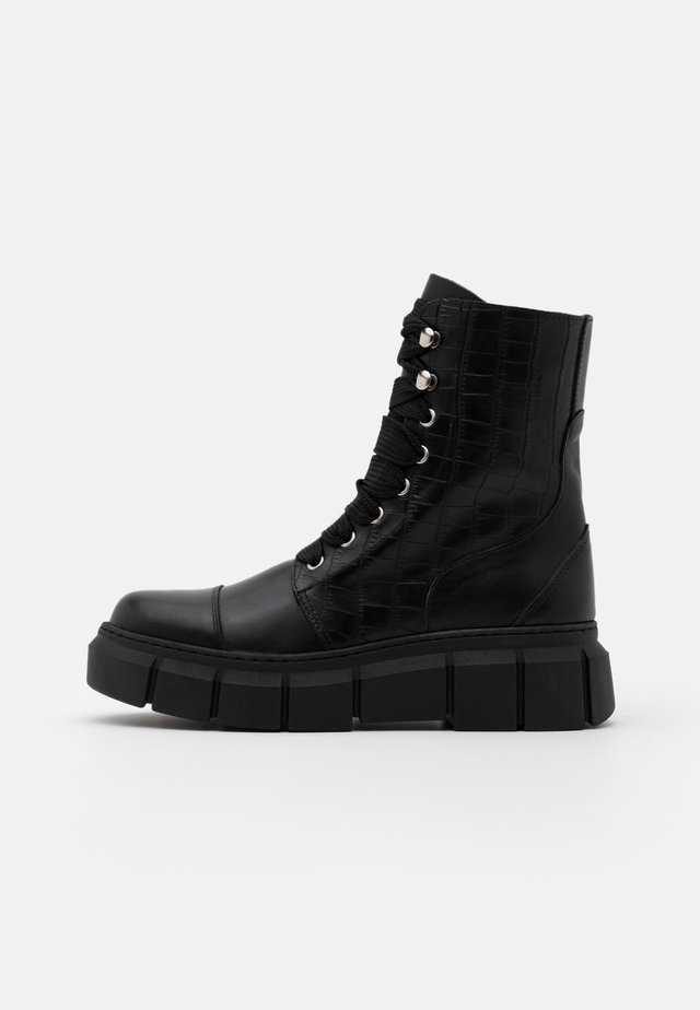 CAN  - Platform ankle boots - black
