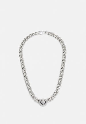 LION COIN CHAIN NECKLACE UNISEX - Collar - silver-coloured/black