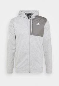 adidas Performance - AERO  - Huvtröja med dragkedja - medium grey heather - 4