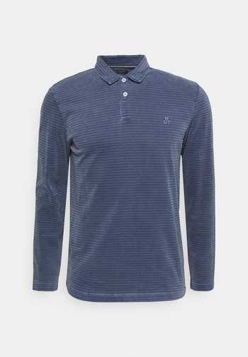 LONG SLEEVE ALL OVER STRIPES - Polo shirt - multi/total eclipse