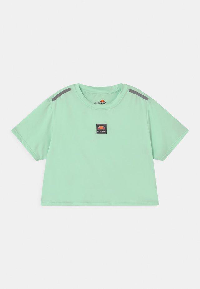 ASALI CROPPED UNISEX - T-shirt print - light green