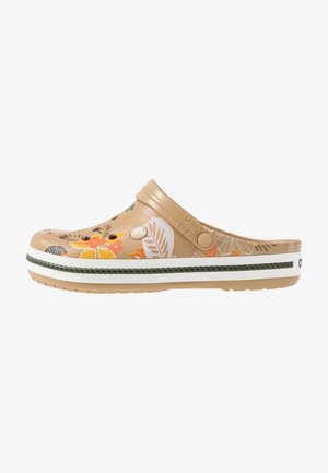 CROCBAND BOTANICAL PRINT - Clogs - tan/white