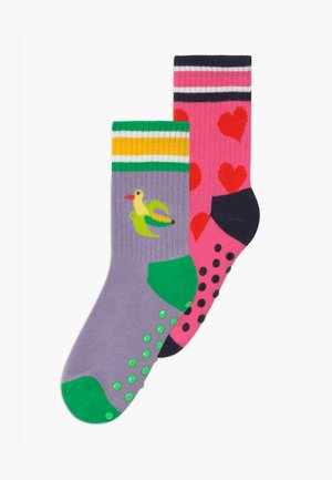 KIDS BIRDS/HEART 2 PACK - Socks - purple/light pink