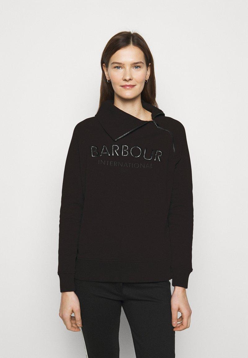 Barbour International - ECLIPSE OVERLAYER - Sweatshirt - black