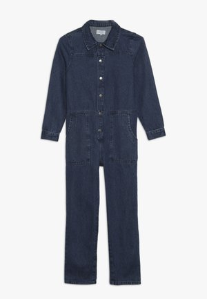 KONFIE WORKER - Jumpsuit - medium blue denim