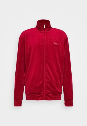 SIGNATURE TRACK JACKET UNISEX - Mikina na zip - dark red