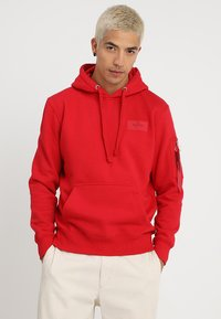 Alpha Industries - BACK PRINT HOODY - Sweat à capuche - speed red - 2