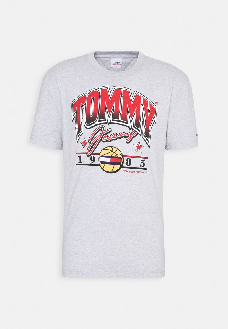 Tommy Jeans - VARSITY BBALL GRAPHIC TEE - Print T-shirt - silver grey