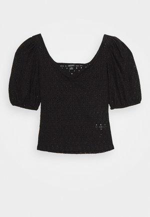 NANCY - Blouse - black dark