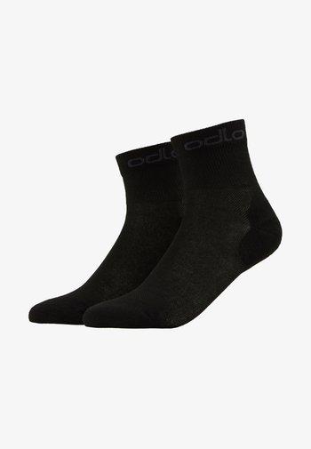 SOCKS QUARTER ACTIVE 2 PACK - Sports socks - black