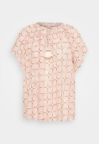 LOWELL - T-shirt imprimé - beige