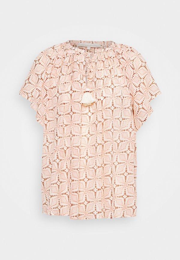 Vanessa Bruno LOWELL - T-shirt z nadrukiem - beige/beżowy EQGV