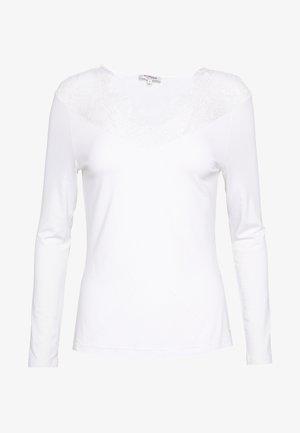 TRACE - Top sdlouhým rukávem - off white