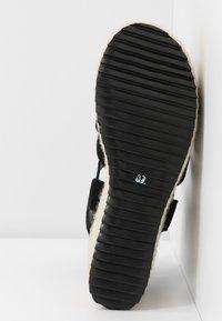 Even&Odd - WEDGE  LEATHER - High heeled sandals - black - 6