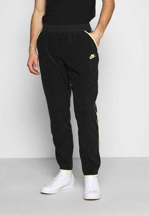 PANT WINTER - Pantalon de survêtement - black/volt