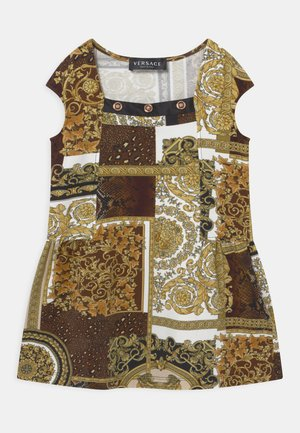 PATCHWORK HERITAGE ANIMALIER - Jersey dress - gold/brown/white