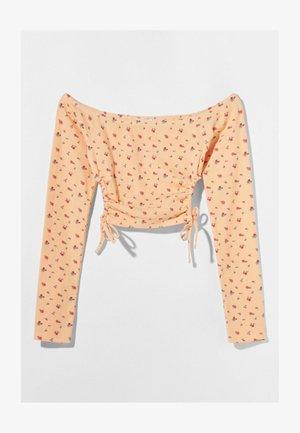 MIT CARMEN - Top sdlouhým rukávem - orange