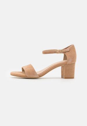 LEATHER COMFORT - Sandals - beige