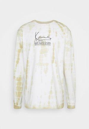 SIGNATURE TIE DYE UNISEX - Camiseta de manga larga - white
