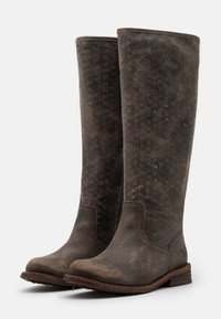 Felmini Wide Fit - GREDO - Boots - noumerat/picado tobacco - 2