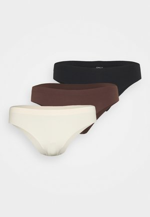 ONLTRACY SEAMLESS BRIEF 3 PACK  - Briefs - nude/black/brown