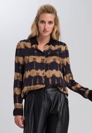 Button-down blouse - black varied