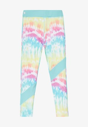 GIRLS COLOR BLOCK  - Legging - rainbow/light blue