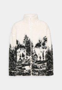Jaded London - WOLF SCENE BORG JACKET - Winter jacket - ecru/dark grey - 4