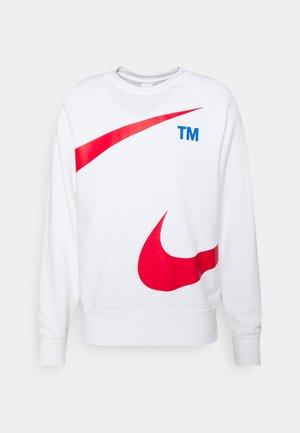 CREW - Sweatshirt - white/university red