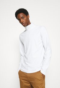 Solid - TED ROLLNECK - Long sleeved top - white - 0