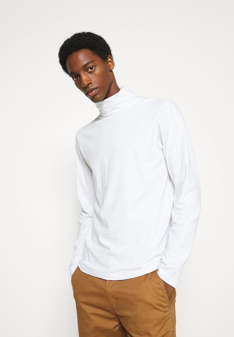 Solid - TED ROLLNECK - Long sleeved top - white