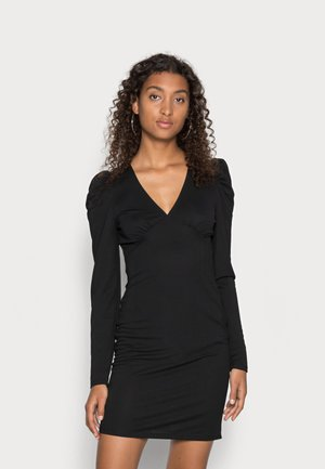 ONLMONNA DEEP V NECK DRESS  - Shift dress - black
