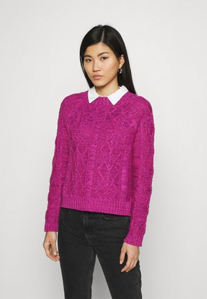 CABLE CREW - Svetr - pink marl