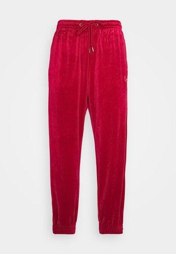 SIGNATURE TRACK PANTS UNISEX - Verryttelyhousut - dark red