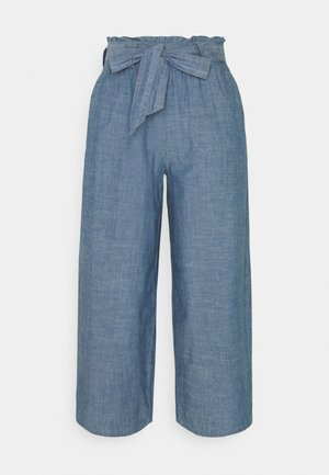 VMAKELA PAPERBAG CULOTTE - Pantalon classique - medium blue denim