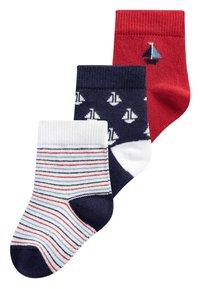 Next - 3 PACK BOAT SOCKS - Socken - red - 0
