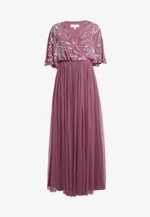 EMBELLISHED KIMONOWRAP MAXI DRESS - Společenské šaty - purple