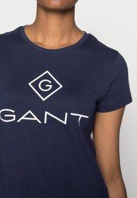 GANT - LOCK UP - Print T-shirt - evening blue - 4