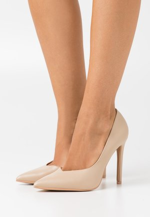 WIDE FIT PIETRA - Højhælede pumps - nude
