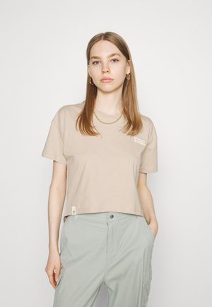 CROPPED - Jednoduché triko - beige