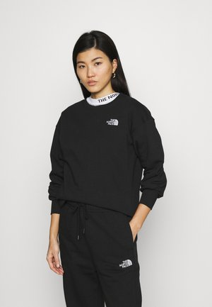 OVERSIZED ESSENTIAL CREW - Sweatshirt - black