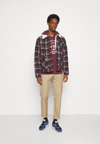 TOM TAILOR - HOODIE WITH PRINT - Hoodie - dusty wildberry red - 1