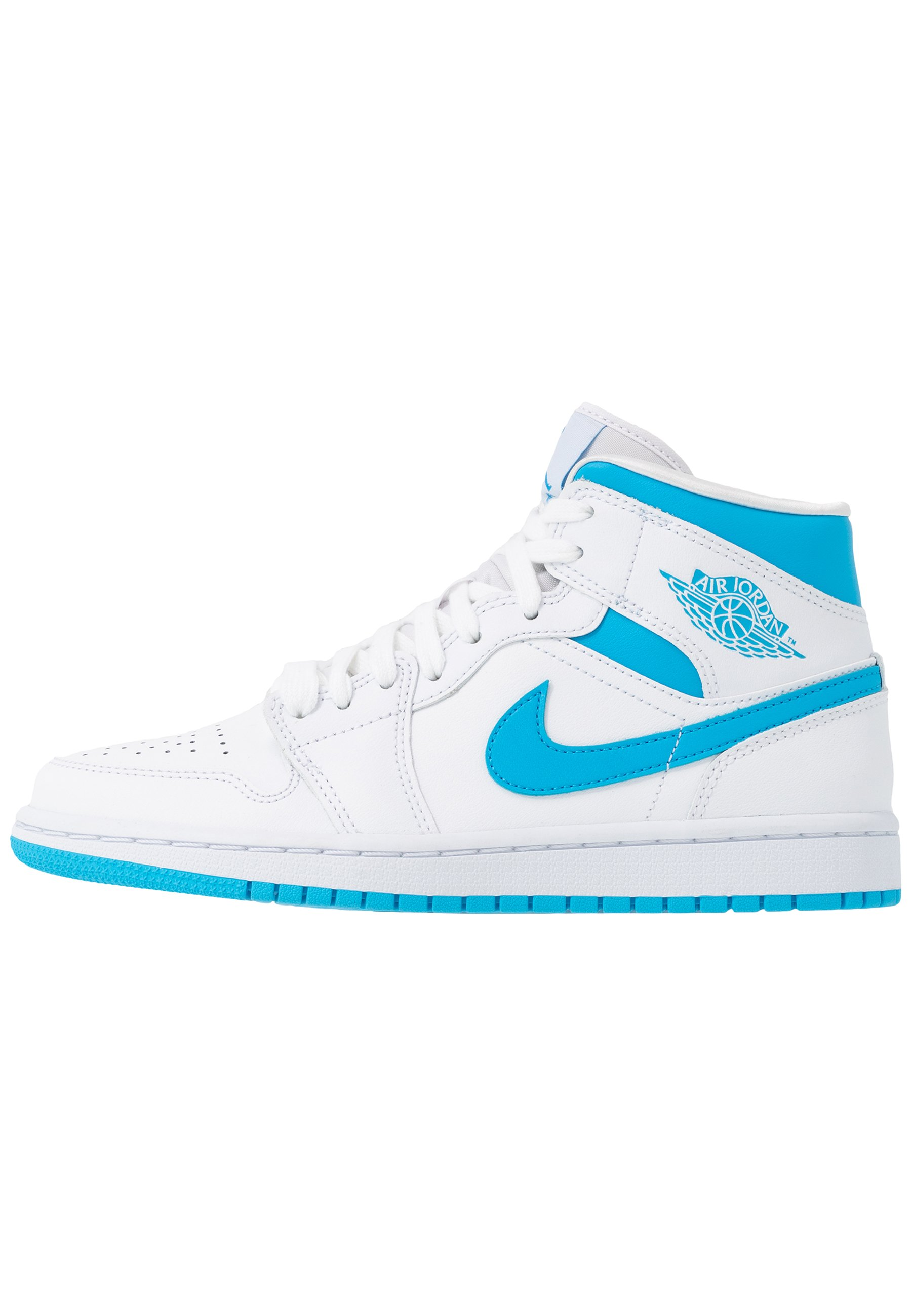 AIR 1 MID - Sneakers alte - white/dark powder blue