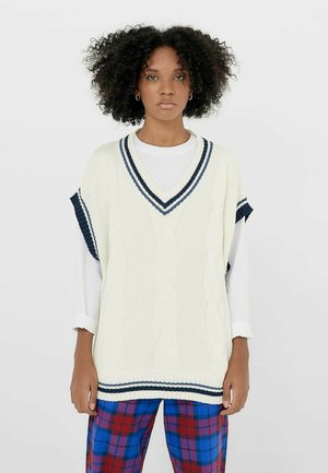 COLLEGE - Sweter - white