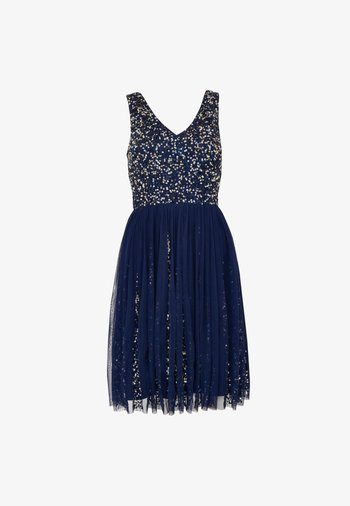 AIMEE EMBELLISHED SEQUINS SKATER - Cocktail dress / Party dress - navy