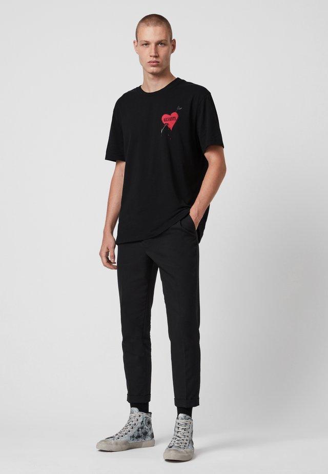 BLEEDING HEART - T-shirt print - black