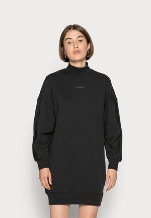 LOGO TRIM MOCK NECK DRESS - Day dress - black